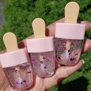 Блеск для губ трубы Pink Ice Cream Lip Glaze Пустая труба Прозрачная Lip Refillable бутылки DIY Косметические контейнеры
