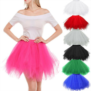 22 Types Novelty Women Girls Fluffy Party Skirt Solid Color Tulle Tutu Dance Ballet Skirt Kids Children Clothes