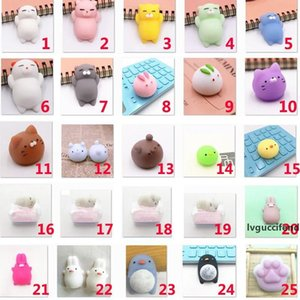 Mini Anti-Stree Squishy Squeeze Animals Fun Toys Novelty Reliever Home Decor Decompression Toys XMAS Gifts 60 Styles WX9-581