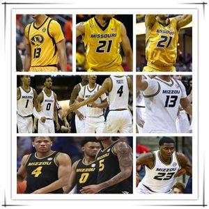 Пользовательские Mizzou Missouri Tigers Tigers College Basketball Jersey Xavier Pinson Dru Smith Jeremiah Tilmon Mark Smith Javon Vickett Smith Brown 4XL