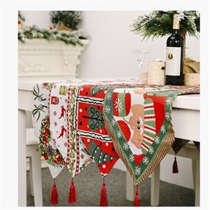moose Snowman dining table road 2020 decoration 2021 Christmas