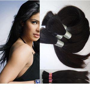Human hair extension straight 100g 1pcs no weft human hair bulk for braiding 28 inch - 40inch