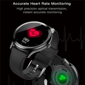 Reloj elegante G28 táctil completa Hombres Mujeres Moda IP68 a prueba de agua de la presión arterial Deporte SmartWatch ritmo cardíaco rastreador de ejercicios