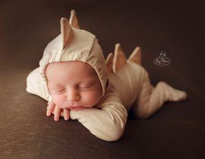 1Cross-border new children photography costume cute baby photo mini seven colors baby dinosaur jumpsuit + hat suit