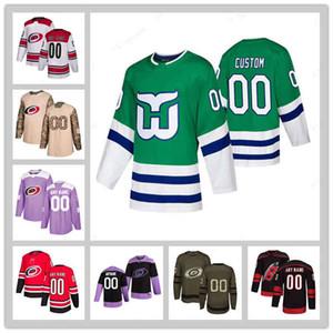 HARTFORD WHALERS CAROLINA HURRICANES JERSEY 2020-21 Reverse Retro 20 Sebastian AHO 11 Staal 10 Francis 86 Teuvo Teravainen Hockey Trikots