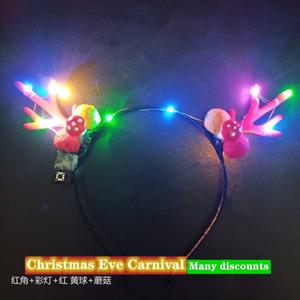 Weihnachts-LED-Light-Spielzeug, Kopf-leuchtender Geweih, Stirnband, Haarschmuck