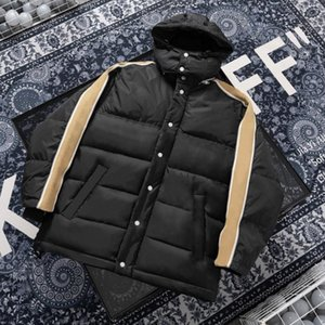 Мужчины мода пальто зима горячие распродажи мужские куртки с длинным рукавом письмо напечатаны с капюшоном мужчин женщин мода одежда Parkas