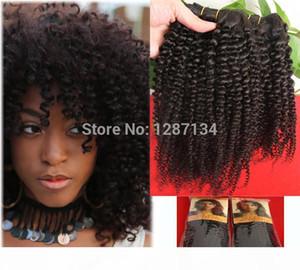 Seksi!!! Afro Kinky Kıvırcık Bakire Brezilyalı Saç Örgü 1 adetgrup Tam Kafa, Sınıf 7A Işlenmemiş Saç Uzatma Kıvırcık Virgin İnsan