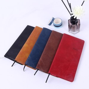 agenda 2021leather A6 notebook Weekly planning journa planner caderno cahier Kawai Office diary note book notepad notebooks
