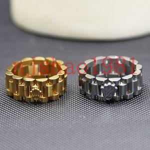 Роскошная Ленточные кольца Мода для женщин Мужские часы Часы Кольцо Стиль Браслет-манжета высокого качества из нержавеющей стали Мужчины ювелирные изделия