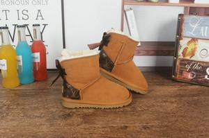 botas para la nieve de arranque niños clásicos de invierno botas de invierno de los niños niñas niños niños calientes de la nieve de Australia botas de nieve de los niños el nombre adjunto zapatos