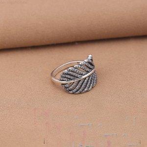 Un auténtico 925 como pluma de plata esterlina, pluma ligera, anillo de boda claro, joyería de moda compatible con SH19 europeo