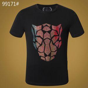 HOT Man T-shirt Skull Summer Basic Solid crystal print letter dollar brand Punk tops Tee men luxury clothing designer short sleeve M-3XL