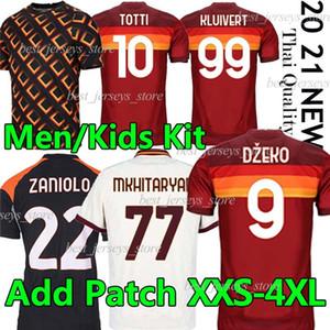 Futbol Forması Zaniolo Dzeko Pastore Totti Kluivert Kolarov 20 21 Futbol Gömlek 2020 2021 Erkekler + Çocuk Kiti Üniforma Maillot Üçüncü