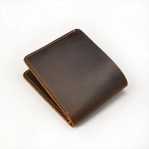 short men wallet genuine leather Small cow leather Wallet Men Brief Designer Portomonee for men