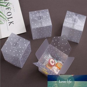 50Pcs Lot Clear PVC Candy Packaging Box Square Transparent Cake Box dot DIY Plastic Packaging Gift Box Wedding Party Decorations