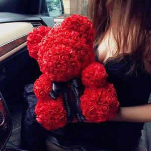 Regalo del día de fiesta de la boda del oso de la decoración de Rose Valentine lindo estupendo de la historieta de la novia presente regalo del cabrito Bear Love Dolls