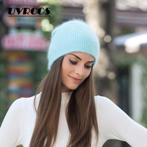 UVRCOS Bonnet femme Homme d'hiver Chapeau tricoté Automne Skullies unisexe Mesdames chaud Bonnet Cap coréen Noir Rouge Cap