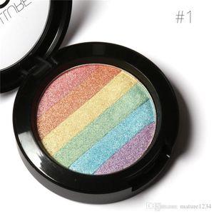 FOCALLURE Pro DIY Rainbow Highlighter Powder Palette Bronzer Contour Soft Mineral Face Highlighter Makeup Palette Kit
