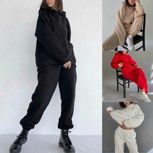Тренажерный зал Одежда Writes Hoodie Home Sportswear Женщины Повседневная Сплошная Цвет Длинные Русовые Брюки Свитановые Свитаны Список Спортивный Спортивный Свитер