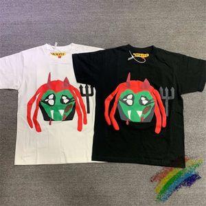 2021SS вспенивающиеся печать Tee мужчин женщин 1 высококачественная черная белая уличная одежда футболки