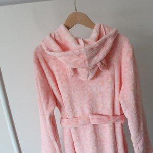 Длинные коралловые воды Sve Outer Housewear Womess Winter Pajamas Bathrob для мальчиков и девочек Li20