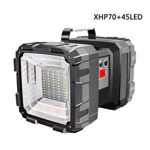 Super Bright LED Portable Spotlights P70 45led Brilhante Impermeável USB LightDouble Head Lightlight Handheld