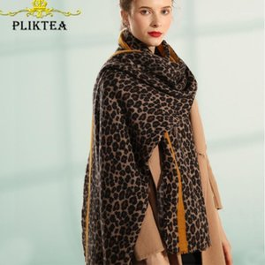 Faux Cashmere Leopard Scarf Tiger Snake Zebra Animal Printed Women's Winter Wool Scarves Female Winter Poncho Shawl1