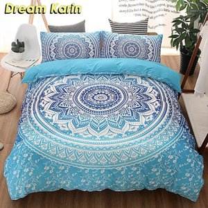 Mandala Floral Print Print King Bedding Set Кровати Bohemian Доступные Утешители Крышки Чехол 3 ШТ. Твин Полный размер Квинс Постельное белье Квиляна1