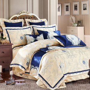 Bedding Sets 100%cotton Luxury Set Designer Duvet Bed Sheet Jacquard Cover Bedclothes