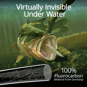 KastKing Kovert 46m 183m 100% Fluorocarbon Fishing Line 4-50LB 0.16-0.7mm Waterproof Sinking Leader Line Invisible Under Water 201118