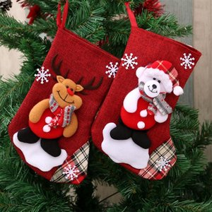 Santa Snowman Pendant Christmas Ornaments New Year Socks Christmas Decorations for Home Merry Christmas Tree Decorations
