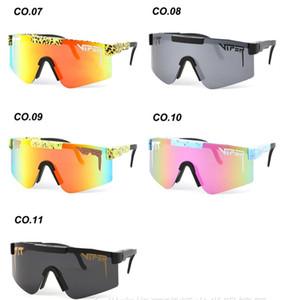 Polarizado Nueva moda Hombre Pit Viper Gafas de sol Doble ancho polarizado Gafas espejadas Lente TR90 Ciclismo Glasse UV Vidrios a prueba de viento al aire libre