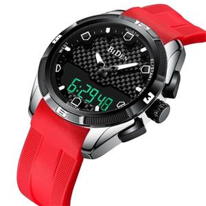 Biden Elektronik Yeni Stil Şok Dijital İzle Unisex Spor Saatler Su Geçirmez Darbeye Dayanıklı Saat Led Erkekler Lwristwatch