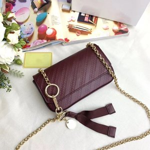 Ladies' New Embossed Stitched Leather Mini Pocket Bag Shoulder Bag Ribbon with O-chain Cute Messenger Bag GV9050 Feels Super Good