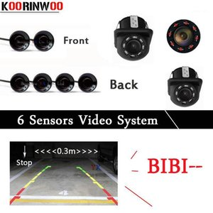 KOORINWOO Dual Core Core Crow Парковочные датчики 6 радаров IP68 Передняя аварийная будильник Bibi Parking Probed Parktronic Car-delector RearView Camera1