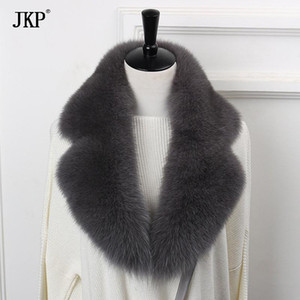 2020 New Natural Fur Collar Scarf 90cm Winter Women Genuine Fur Collar Warm Scarves