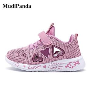 MUDIPANDA ENFANTS Baskets Casual Sneakers Sport Footwear Sport Pour Fille Lumière Rose Plat Chaussures Hiver Y201028
