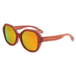 BerWer Neue Original-Holz-Sonnenbrille-Frauen-Handarbeit Retro Holz Sonnenbrillen Oculos für Tropfen Verschiffen