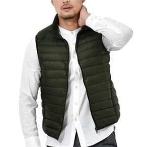 Men's Lightweight Down Vest with Stand-up Collar Casual Top For Autumn Winter Trainning Exercise Jackets
