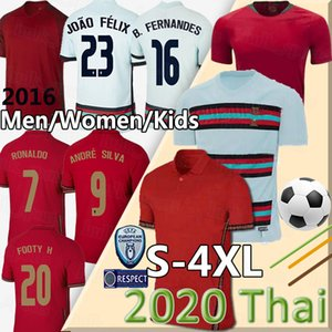 2020 RONALDO de football JOAO BERNARDO FELIX NEVES Cancelo RUBEN NEVES 2021 l'équipe nationale blanche 20 21 hommes + chemise de football Kids Set