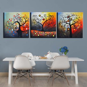 3 piezas Abstract Tree Pictures Canvas Painting Wall Art Fotos Pósteres y Prints Imágenes para sala de estar