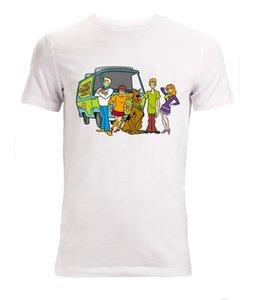Новое лето Горячие Продажа Мода Scooby Doo Мультяшные персонажи Произведение МУЖСКАЯ женщины Доступен Белый спортивный Толстовка с капюшоном Толстовка мужчины тенниска