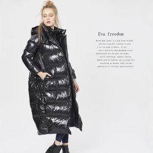 2020 Winter Women's EVA Freedom New Fashion Extended Hood Hood Flow Warde Flow Tallo Puffer Down Chaqueta Mujeres