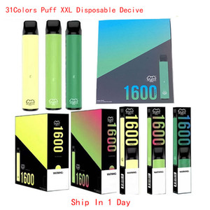 31 Colori Puff XXL 1600Puffs Monouso con codice Scratch Vape Pen penna Dispositivo di avviamento Kit vuoto Dispositivo monouso Kit Puff Bar Plus Bang XXL