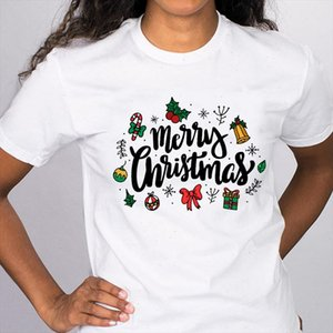 Women Graphic Gift New Year Printing Cartoon Cute Holiday Merry Christmas Tees Clothes Print Tops Lady Female T Shirt T Shirt