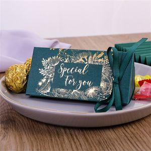 Çikolata Hediye Paketi Altın Kaplama Düğün Kutlama Üçgenler Şeker Kutusu Ipek Kurdele Hediyeler Wrap Moda Yeni Varış 0 33CY M2