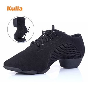 Latin Salsa Dance Shoes Women Stretch Cloth Ladies Ballroom Dancing Shoes Soft Sole Fitness yoga Shoes Wholesale Middle Heels 201017