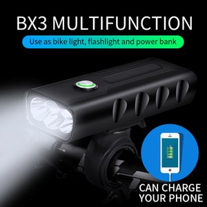 Bike Light Front usb Rechargeable T6 L2 5200mAH Waterproof LED Bicycle Light Power Bank Battery 18650 Cycling Bike Accessories