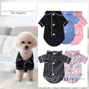 Pet Dog Home Wear Teacup Dog Small Dog Teddy Bear Clothes Simple Black White Dogs And Cats Wear Pet Pajamas